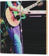 Steve Howe Of Yes 1980 Drama Tour Wood Print