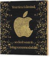 Steve Jobs Quote Original Digital Artwork Wood Print