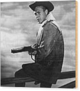 Steve Mcqueen As Cowboy Wood Print by Retro Images Archive