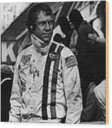 Steve Mcqueen In Racing Gear Wood Print by Retro Images Archive