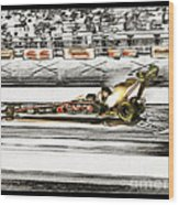 Steve Torrence Top Fuel Solerized Wood Print
