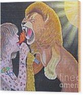Steven Tyler Versus Lion Wood Print