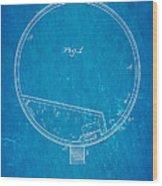 Stevens Roller Coaster Patent Art 1884 Blueprint Wood Print by Ian Monk