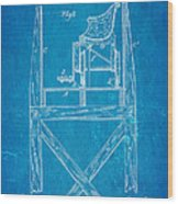 Stevens Roller Coaster Patent Art  3 1884 Blueprint Wood Print by Ian Monk