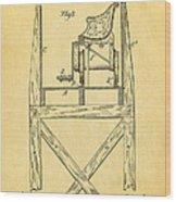 Stevens Roller Coaster Patent Art  3 1884 Wood Print by Ian Monk