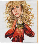 Stevie Nicks Wood Print