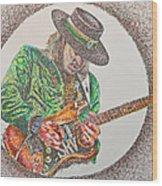 Stevie Ray Vaughn Wood Print