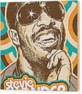 Stevie Wonder Pop Art Wood Print
