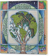 Stewardship Of The Earth Wood Print by Arla Patch