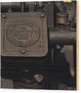 Stickney Hit And Miss Engine Wood Print