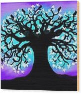 Still Counting Crows Wood Print