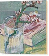 Still Life    A Flowering Almond Branch Wood Print