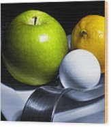 Still Life Eclectic 2 Wood Print by Cecil Fuselier