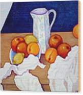Still Life In Honor Of Cezanne   Wood Print