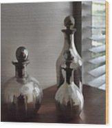 Still Life In Silver 2 Wood Print
