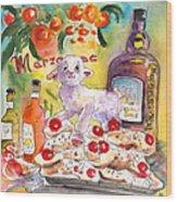 Still Life In Taormina Wood Print