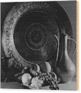Still Life Of Armenian Plate And Other Wood Print