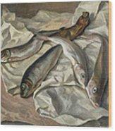 Still Life Of Fish, 1928 Wood Print