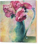Still Life Roses Wood Print