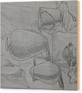 Still Life Sketching Wood Print