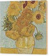 Still Life Sunflowers Wood Print