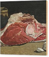 Still Life The Joint Of Meat Wood Print