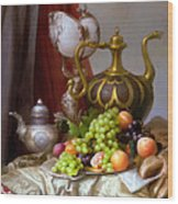 Still-life With A Glass Of Dutch Wood Print