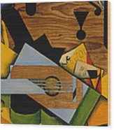 Still Life With A Guitar Wood Print