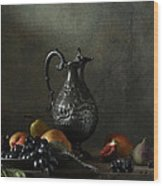 Still Life With A Jug And A Snake Wood Print