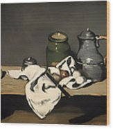 Still Life With A Kettle Wood Print