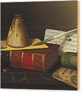 Still Life With A Writing Table Wood Print