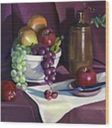 Still Life With Apples Wood Print