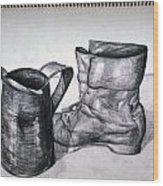 Still Life With Boot Wood Print