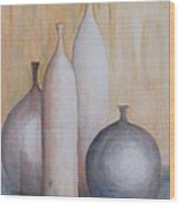 Still Life With Bottles Wood Print