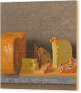 Still Life With Cheese Wood Print