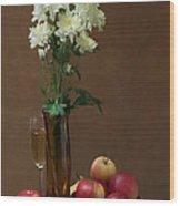 Still Life With Chrysanthemums Wood Print
