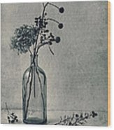 Still Life With Dry Flowers Wood Print