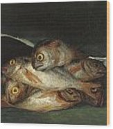 Still Life With Golden Bream Wood Print