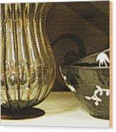 Still Life With Golden Vase Wood Print