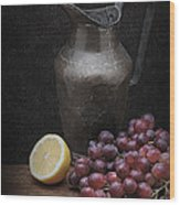 Still Life With Grapes Wood Print
