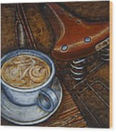 Still Life With Ladies Bike Wood Print by Mark Jones