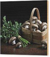 Still Life With Mushrooms Wood Print