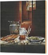 Still Life With Olives And Fish Wood Print by Victor Mordasov