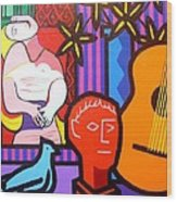 Still Life With Picasso's Dream Wood Print