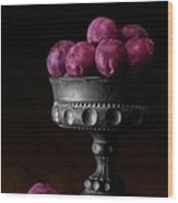 Still Life With Plums Wood Print
