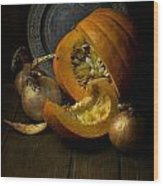 Still Life With Pumpkin Wood Print