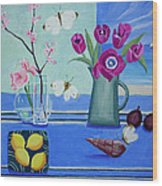 Still Life With Sea View Sold Wood Print