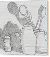 Still Life With Shadows Wood Print by Bav Patel