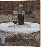 Still Life With Wine Slv1 Wood Print