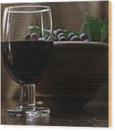 Still Life With Wine Swv1 Wood Print